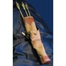Faretra per tiro con l'arco con piccola scarsella