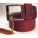 Men Belt Classic - Silver Buckle