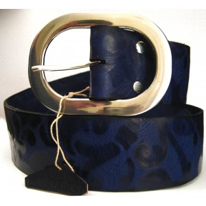 Fashion Belt Blue with Pattern Drawn