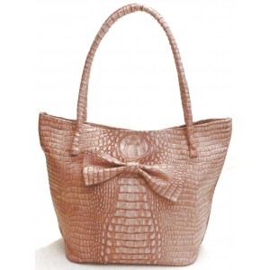 Rose leather bag