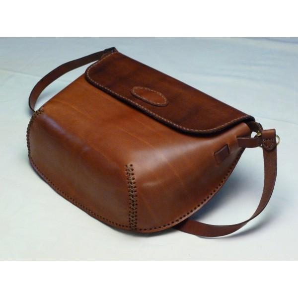 borsa di pelle marrone