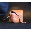 Leather souvenir mini bag